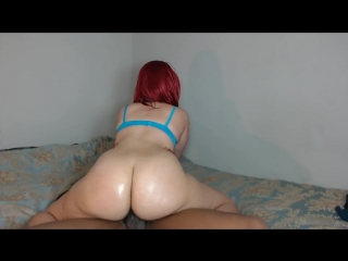 Big booty red head rides hard cock until tight pussy gets pussy filled! - big ass butts booty tits boobs bbw pawg curvy mature m