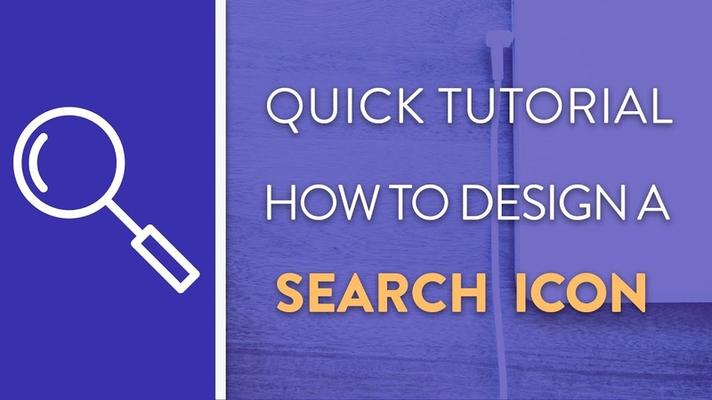 DAY 6 : How To Design A Search Icon in Illustrator   Icon Design Week