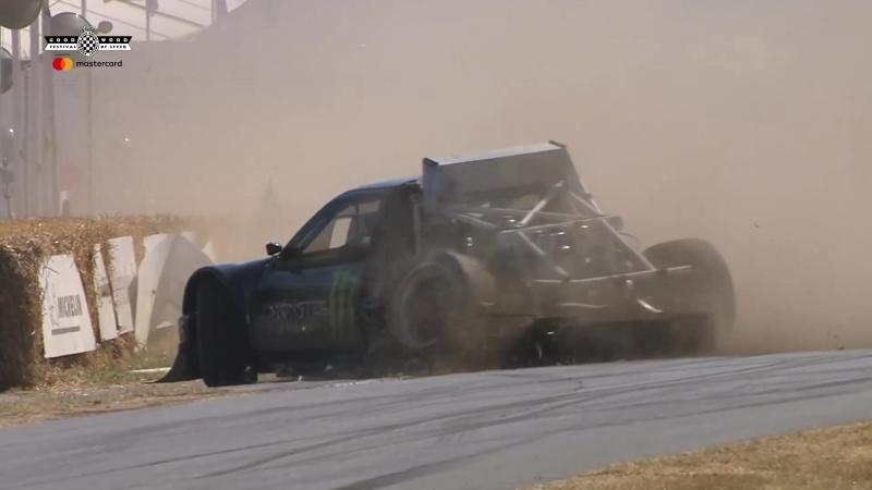 Авария Лиама Дорана Ford RS200 Pikes Peak Гудвуд 2018