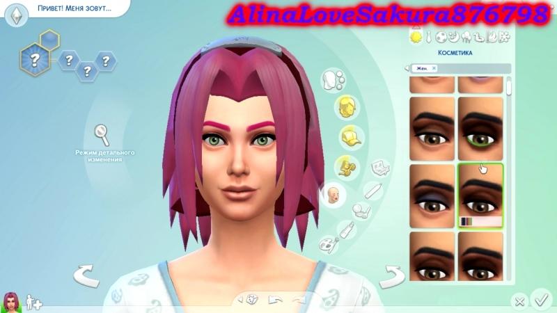 The Sims 4 Create A Sim (Sakura Haruno)