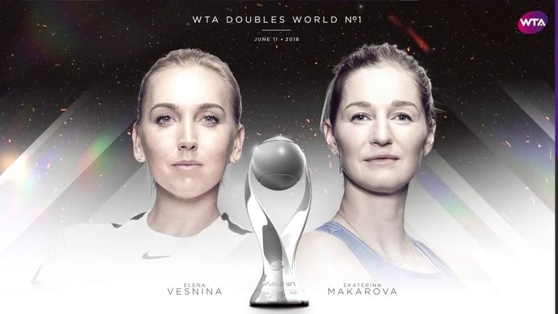Vesnina and Makarova become WTA Doubles World No 1