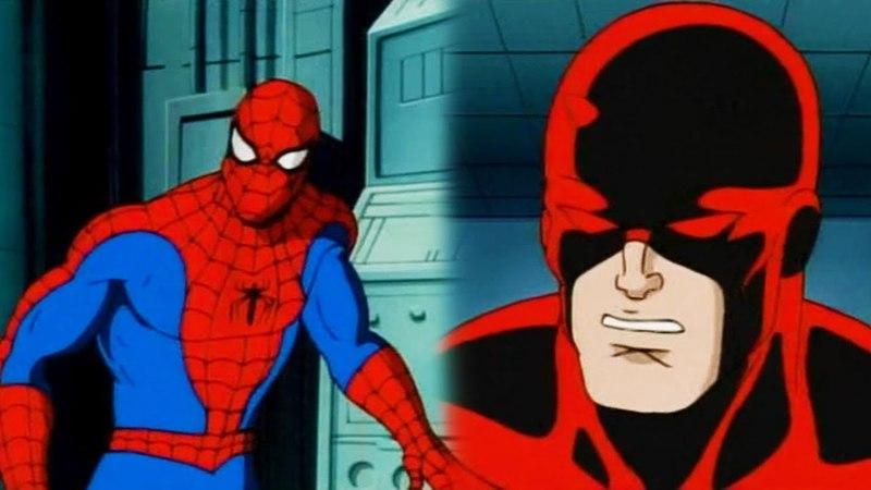 Человек паук и Сорвиголова против солдат Амбала Кингпина (1994 Мультсериал)