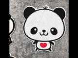 рисунком панды гладить на Нашивки для одежды DIY патч аппликация сумка Костюмы пальто свитер ремесла Декоративные Наклейки З