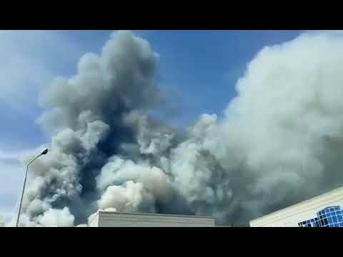 Срочно! Пожар в Семее! Казахстан