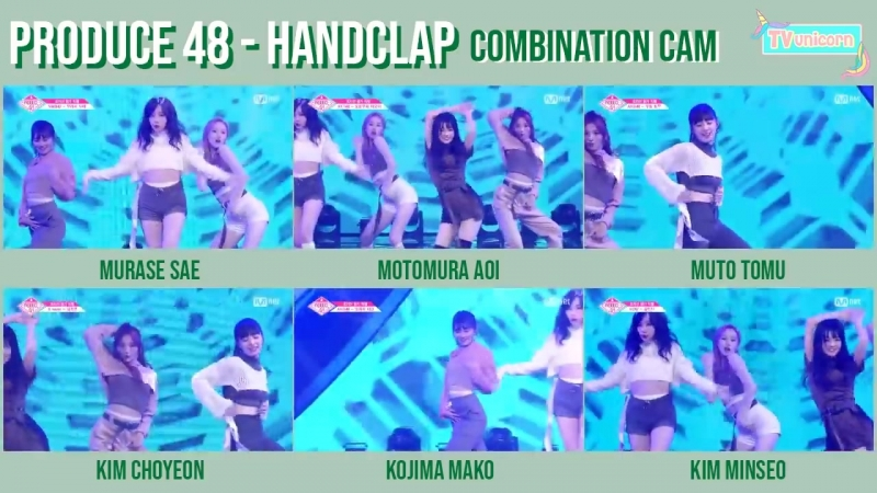 PRODUCE 48 - Fitz and the Tantrums ♬ HandClap Combination Cam