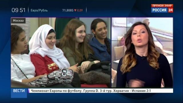 Новости на Россия 24 • Девочек из палестинской Вифании наградили поездкой в Россию