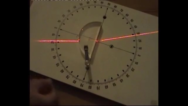 Light refraction in a glass air surface varying incidence angle