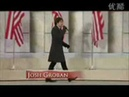 Obama inauguration concert Josh Groban and Heather Headley perform at the same table
