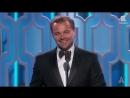 Лео ДиКаприо получает Оскара