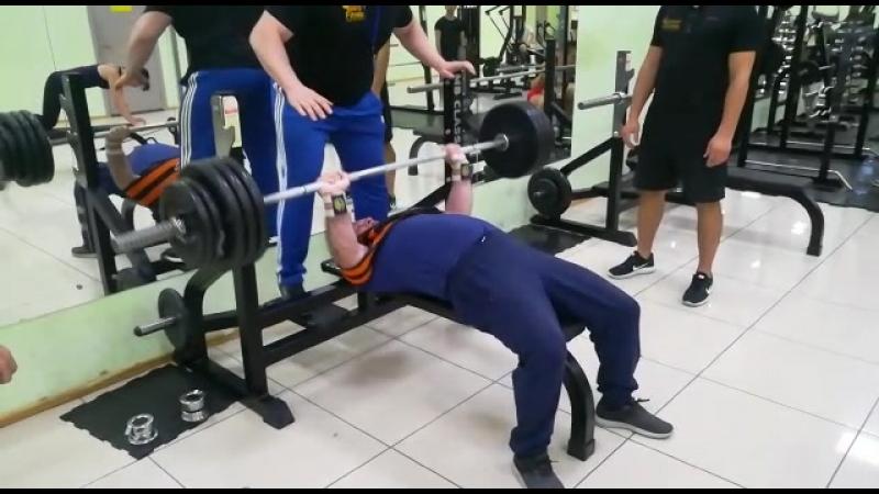 Жим лежа 180 кг в слинге