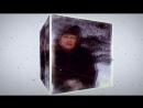 вращение зимнего куба с падающим снегом и вашими фото