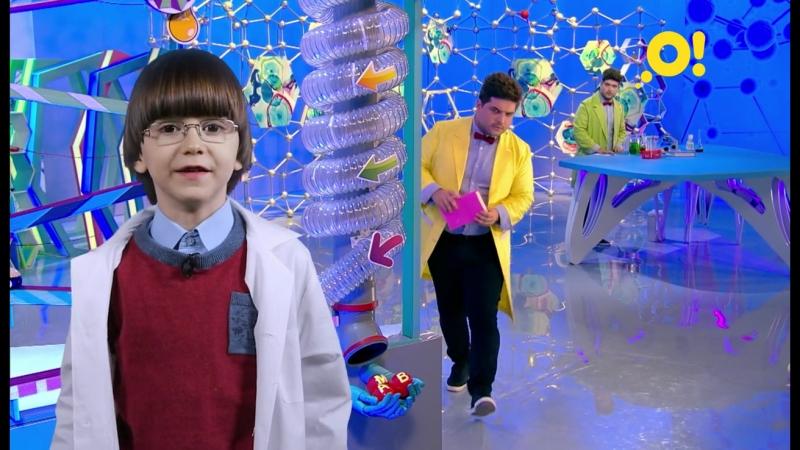 Саша представляет программу «Лабораториум» на канале «О!»
