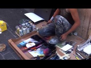 Уличный художник. Шедевр за 7 минут