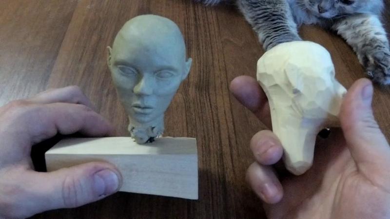 Шарнирная кукла из дерева. Часть 1 - Голова.