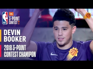 Devin Booker Wins the 2018 JBL Three-Point Contest | Record Setting Round with 28 3's