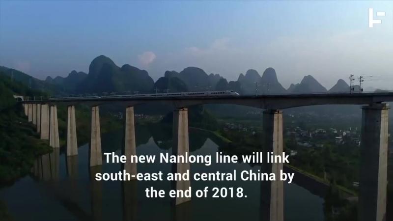 1500 китайских рабочих за 9 часов построили новый железнодорожный узел