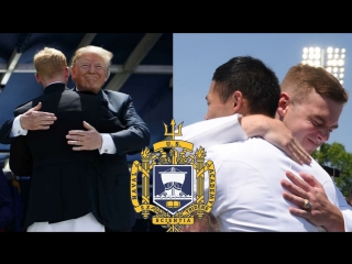 President Donald J. Trump speaks at the graduation and commissioning ceremony for the U.S. Naval Academy's Class of 2018, May 25