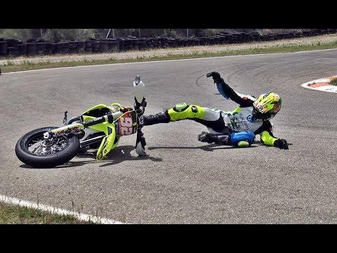 SuperMotard Mora d'Ebre 2018 Crash Show (Edgar-RaceVideos)