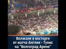 Волжане в восторге от матча Англия Тунис на Волгоград Арене