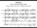 Fanfare Hark the Herald Angels Sing Long Version for Brass Quintet BMI