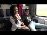 Alex Black - Foursome Sex In Public Train - All Sex Group Porn 2017