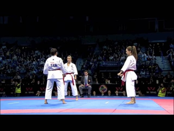 Karate Female Team Kata Bronze Medal - Serbia vs Italy - WKF World Championships Belgrade 2010 (1/2)