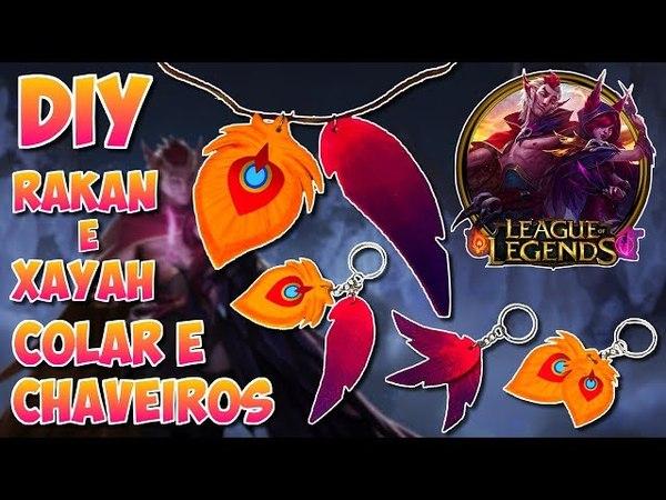 Rakan e Xayah League of Legends Colar e Chaveiros DIY