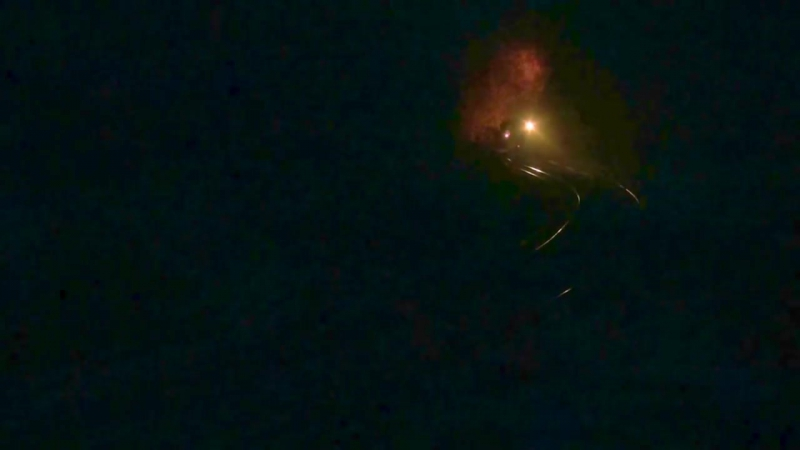 Fire sparks of Steam in Sandaoling Coal Mine Railway China