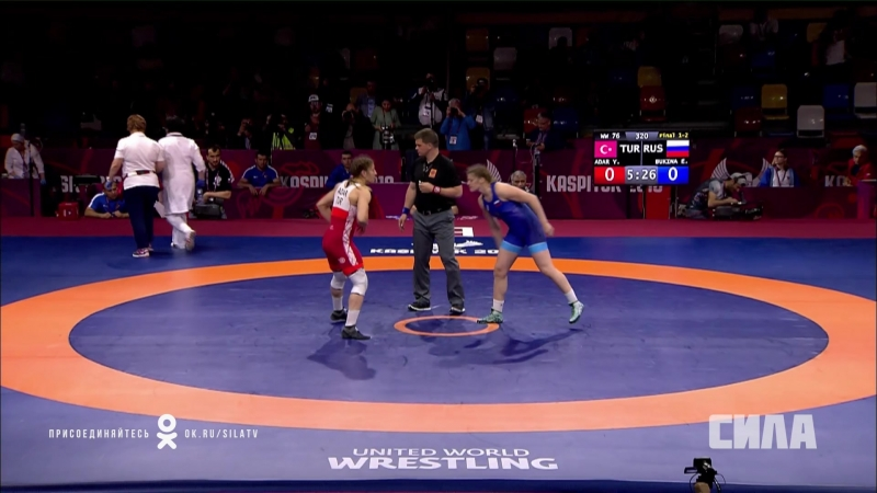 Екатерина Букина vs Ясемин Адар WW 76 kg Финал. Каспийск 2018