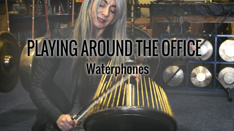 Evelyn Glennie | Playing Around The Office | Part 2 – Waterphones