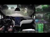 Tesla в режиме автопилота