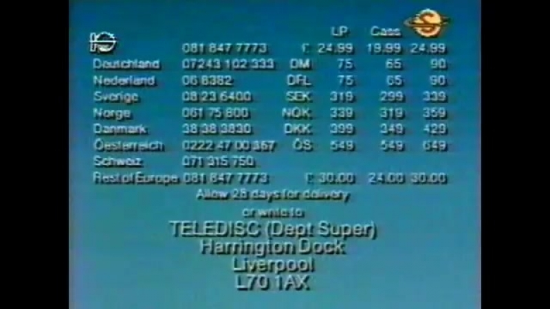 Super Channel 1991 Back In Time Pop