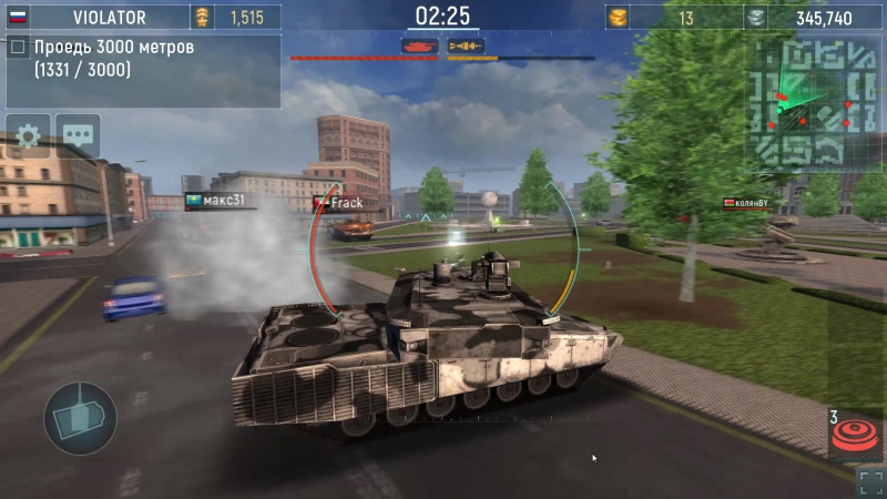 Leopard 2.Битва против ботов.