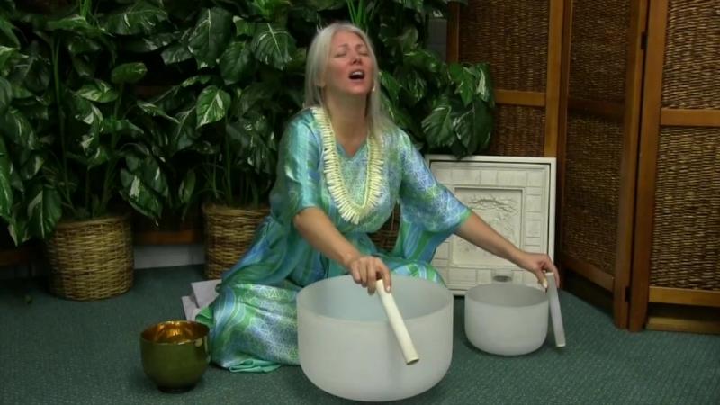 Мастер Кираэль и Лемурийское звучание кристаллических чаш в исполнении Нанатэи