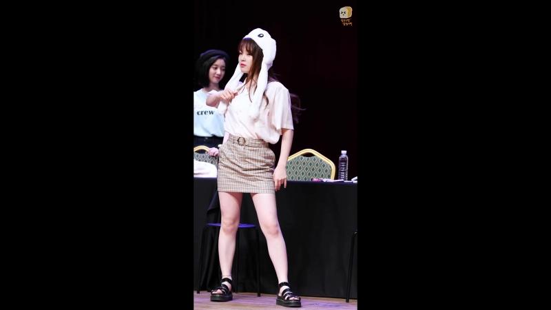 · Fancam · 180630 · OH MY GIRL Seunghee DDU DU DDU DU BLACKPINK Dance Cover · Yeouido Fansign ·