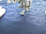 How to Free Motion Quilt Feathered Flower