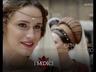 La meravigliosa Valentina Bellè nei panni della giovane  Lucrezia Tornabuoni nella prima stagione de  Medici