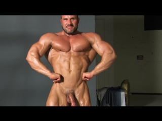 Muscle worship ripped nude posing