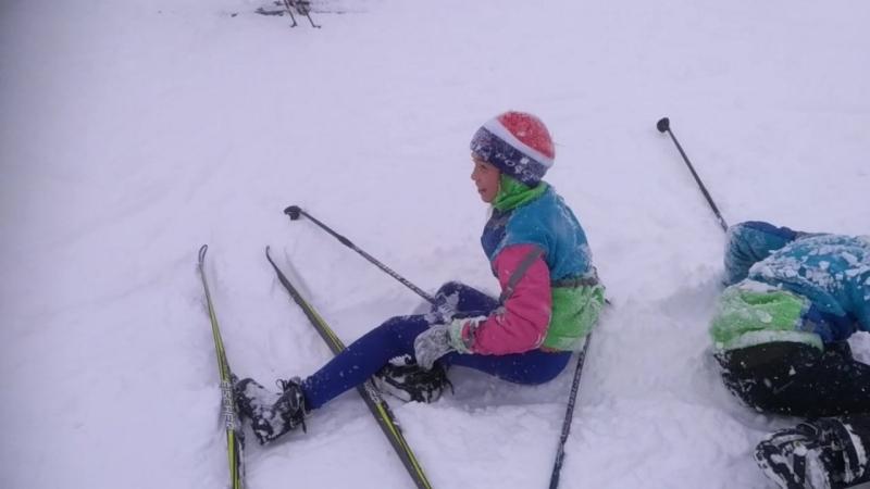 06.03.18 Дневная треня. Эвелинка и Ульянка падают в снег