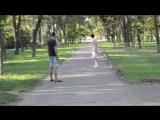 внученька на прогулке.