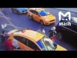 Taxi driver rammed a crowd in Moscow