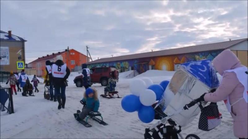 Спортивный забег мам с колясками и санками Путь к звездам