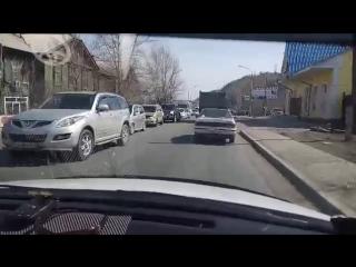 Пробка по дороге в Дивногорск