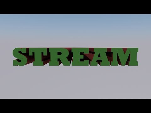 Restream   DDD (3D) stream 13   Алфавит (alphabet) 2