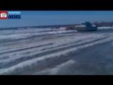 ПТС на переправе Северная Двина