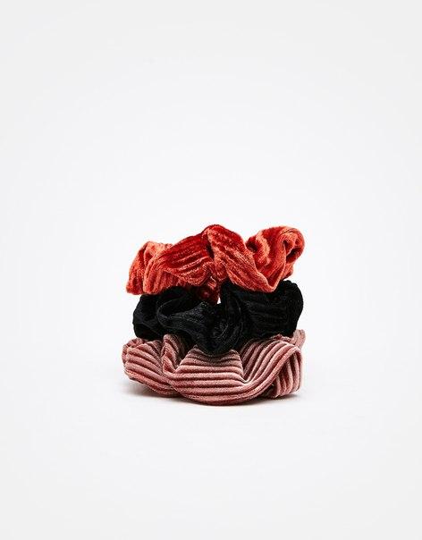 Набор из 3 резинок для волос из бархата