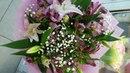 Букет лилии и хризантемы
