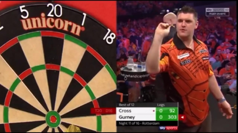 2018 Premier League of Darts Week 11 Cross vs Gurney