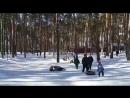 08 03 2018 Настя на тюбинге с бабушкой Галей mp4