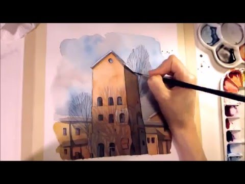 WATERCOLOR Pencil Illustration [Speed Painting with chat] Drawing by Iraville